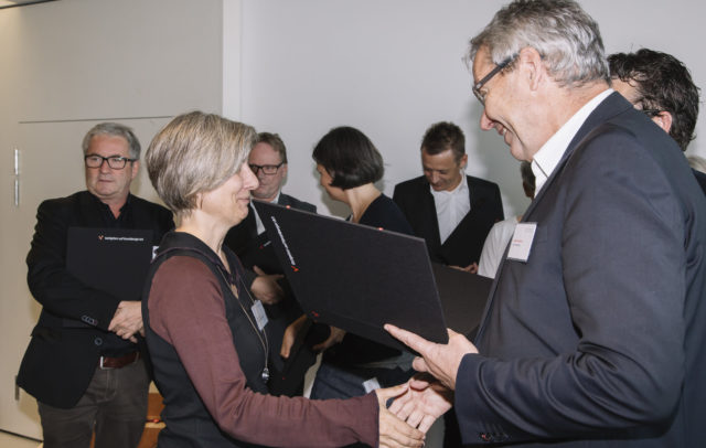 Katrin Löning beim GVA-Symposion 2016 mit Landesstatthalter Karlheinz Rüdisser, (c) Lisa Mathis