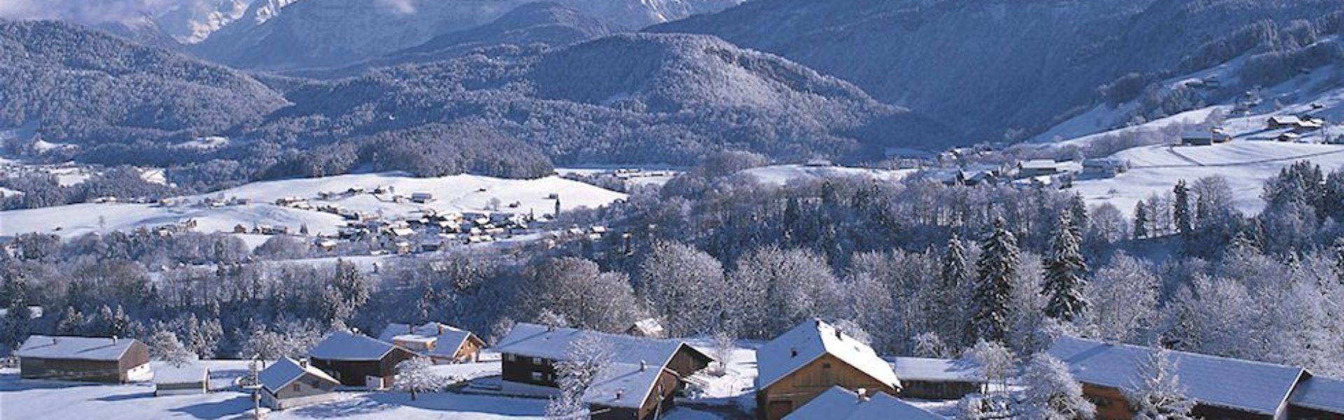 Winter in Schwarzenberg, Bregenzerwald (c) Franz Oberhauser / Vorarlberg Tourismus